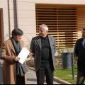 Da sinistra il v. sindaco Paolo Biasiolli, la pres. di ITEA Aida Ruffini, il pres. della Circoscrizione Armando Stefani